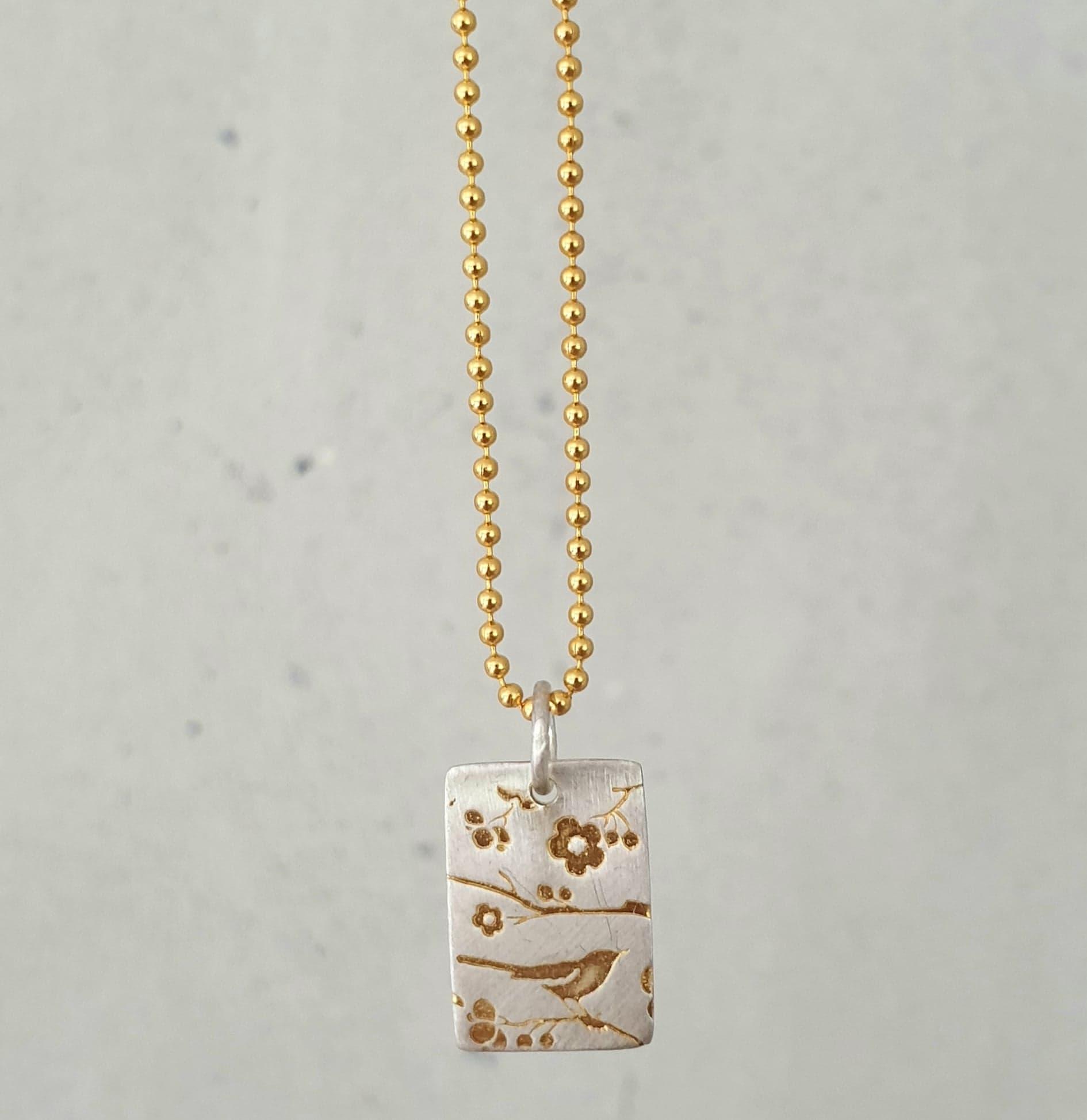 Kort kæde med agat krystal