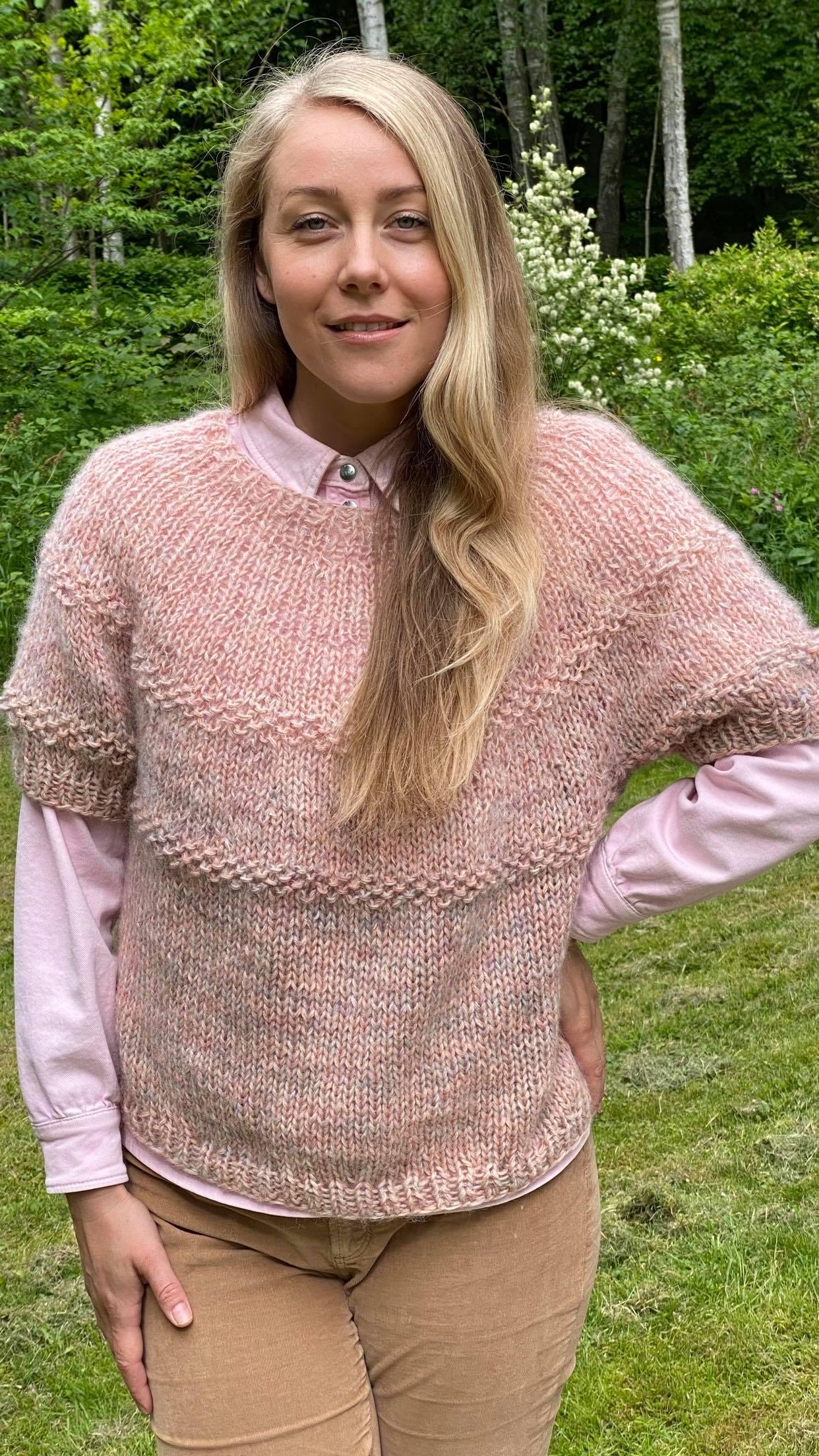 Unika bluse i uld
