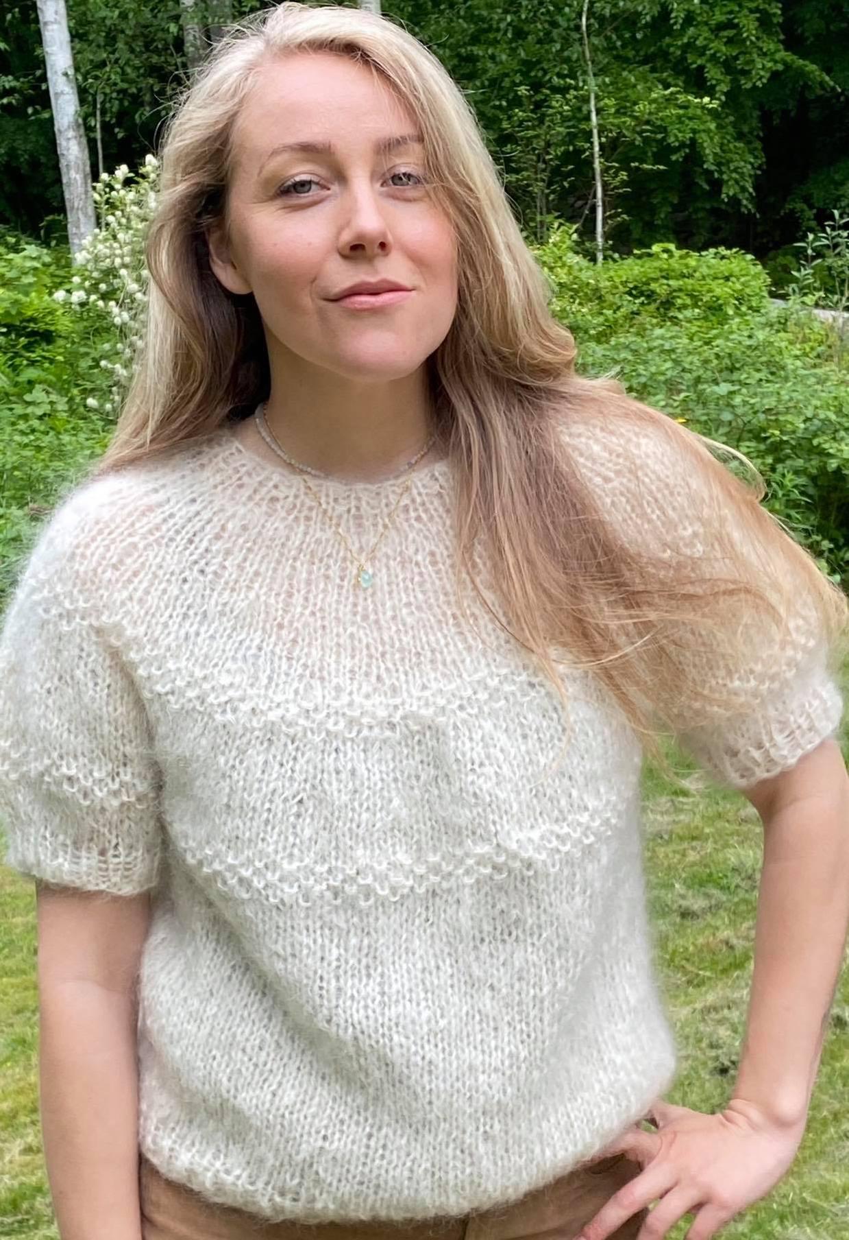 Unika bluse i mohair soft white