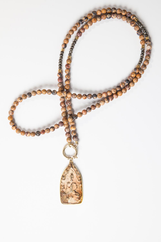 Kæde i leo jaspis