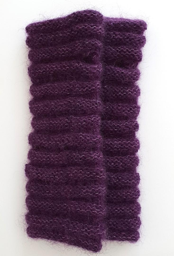 Håndvarmere i alpaka, mohair og silke.