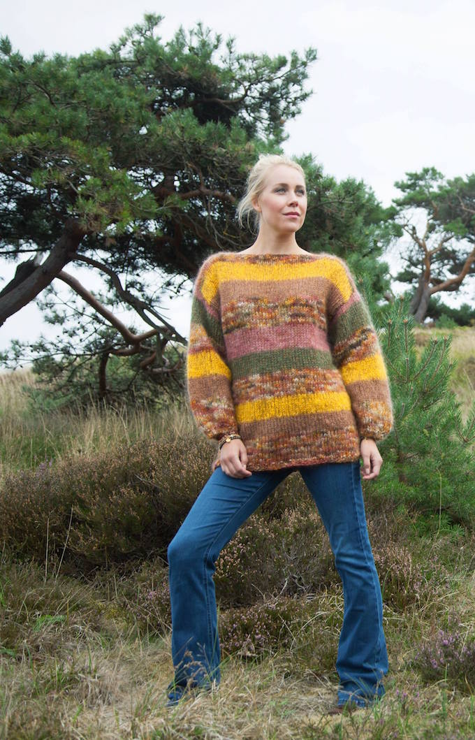 Sweater i gyldne farver